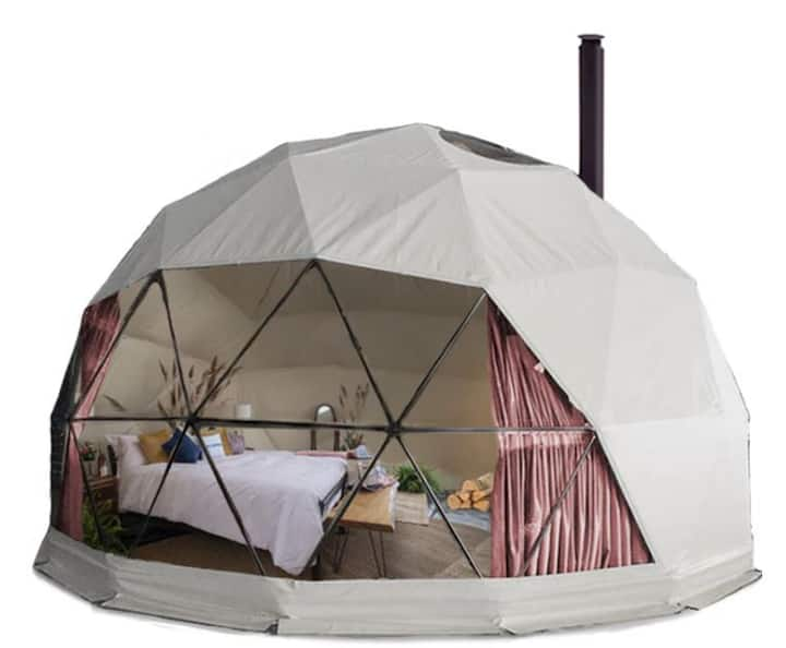 GeoDome on 2 acre waterfront wilderness