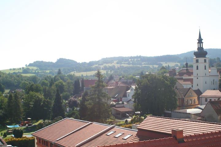 Podkrovní byt v centru Votic (50 km od Prahy) - Votice - Lejlighed