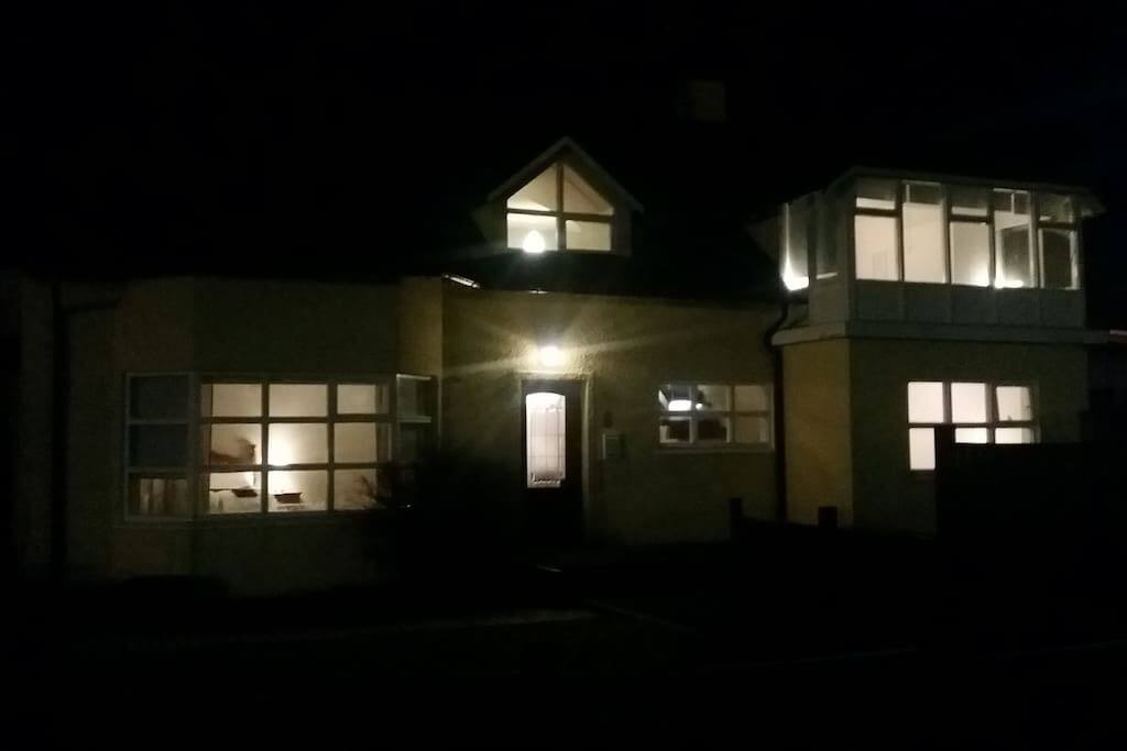 South West guesthouse at night