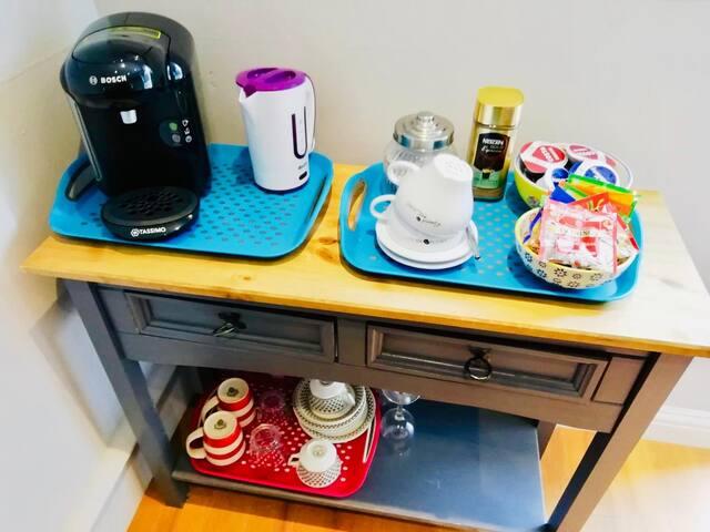 Coffee machine & tea making facilities
