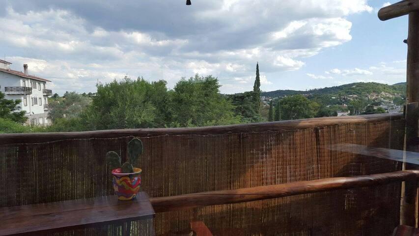Vista desde balcón terraza