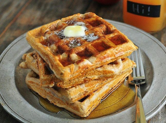 Eat free waffles every day! Have cereal, eggs, coffee, and fruit too!