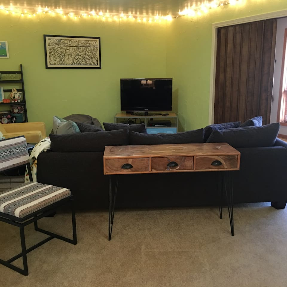 your sitting area and desk
