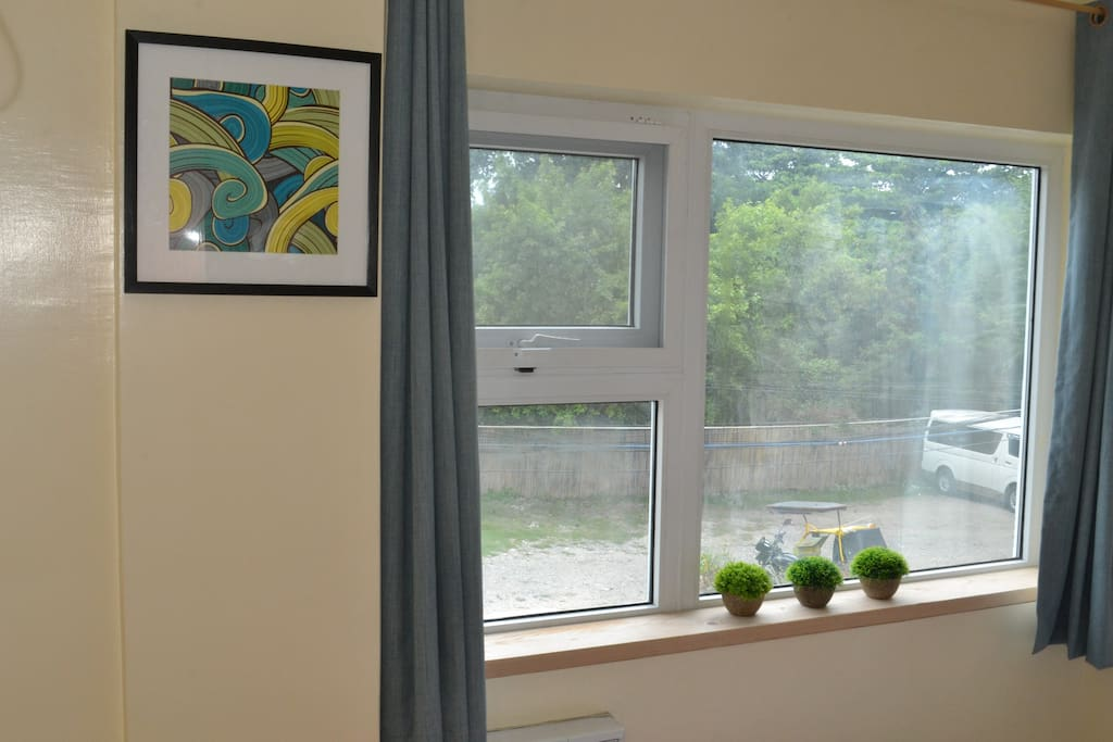 Double glazed sound proof windows for your comfort.