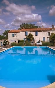 Farmhouse lg pool near sandy beaches - Saint-Vincent-sur-Graon