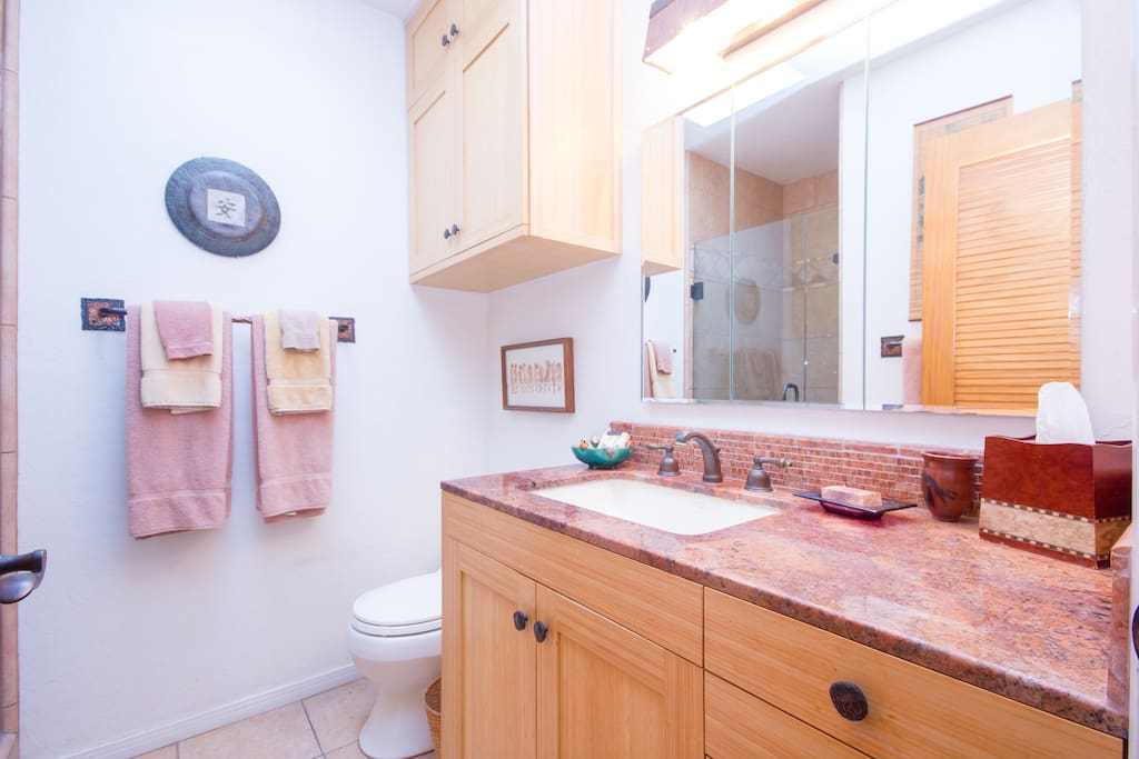 Your sink with beautiful granite counter