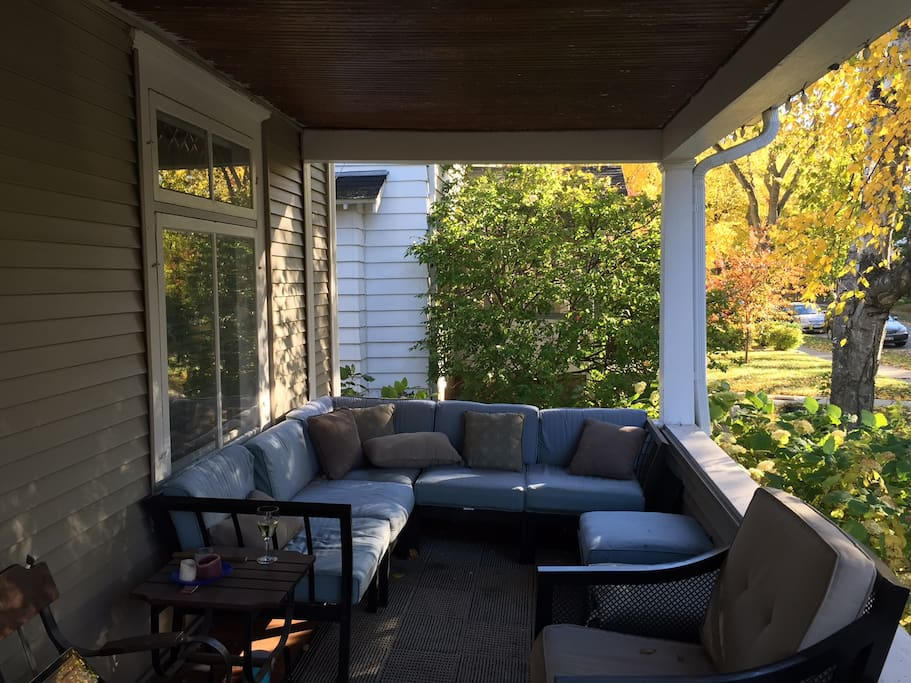 Soak up the afternoon sun and this amazing front porch