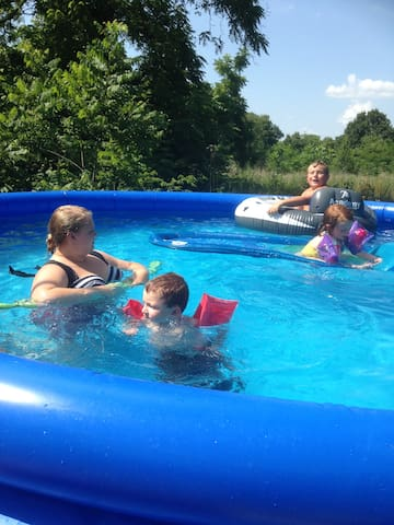 Guests enjoying the Summertime Pool.