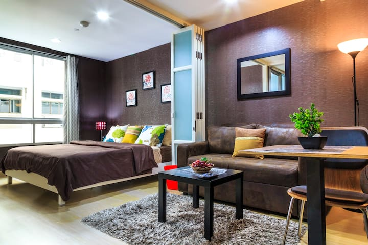 Chic Studio of BKK+BTS+River+Wifi - Bangkok - Condo