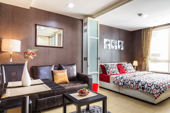 Hip Studio  Of BKK+River+BTS+WIFI - Bangkok - Appartement en résidence