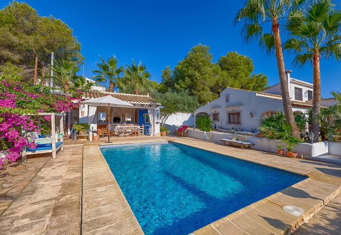 Romantic Beach Villa Moraira with seaview, Spain