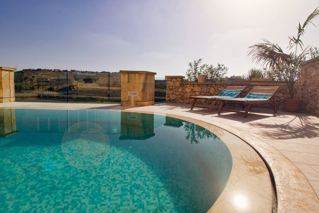 Large kidney shape private pool for you to relax and enjoy