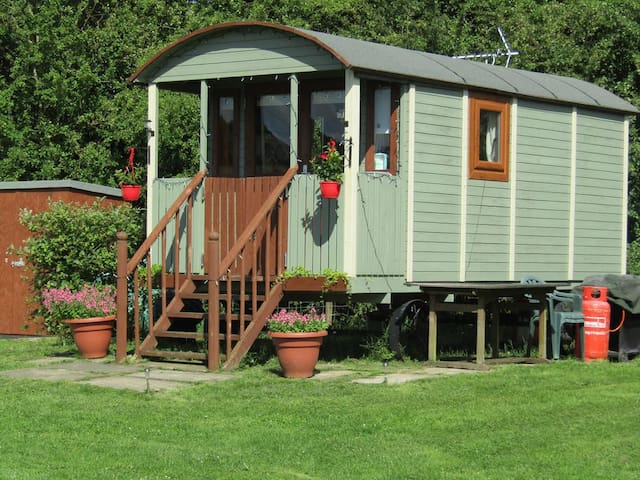 Magnificent Shepherd's Hut in open countryside