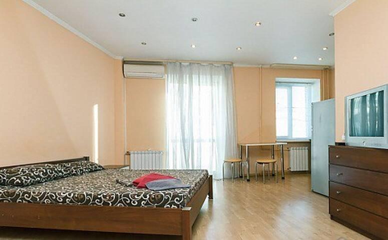 Spacious studio apartment ( Basseynaya 10 )
