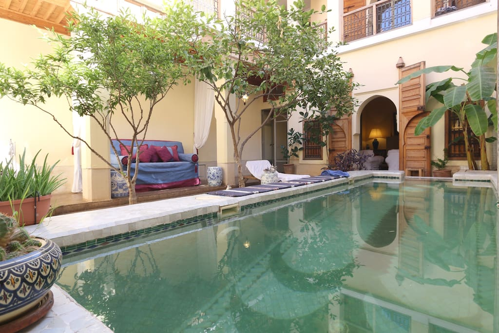 Riad en exclusivit 200 m2 piscine houses for rent in for Riad piscine privee marrakech