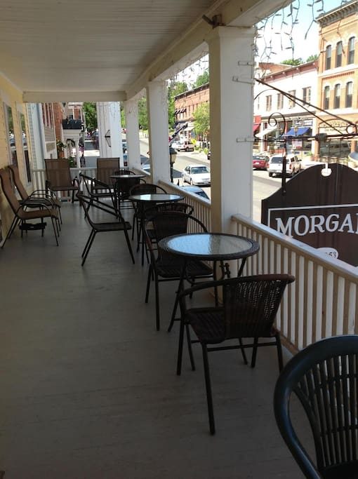 Morgan House Inn second floor porch. Available to Inn guests.