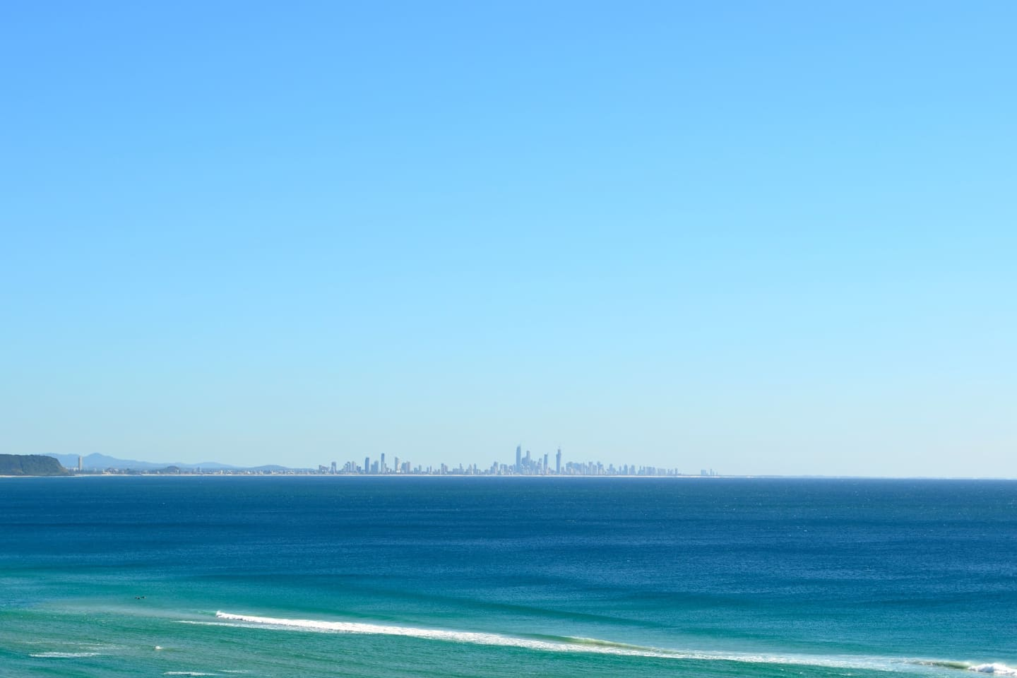 View from balcony to Surfer Paradise