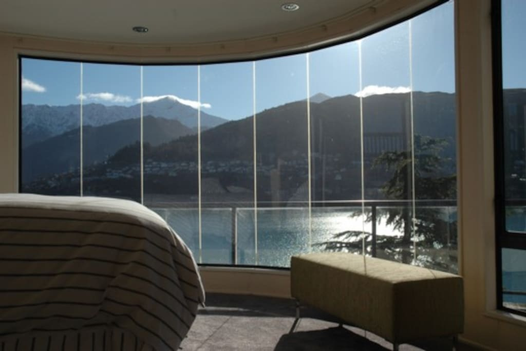 Mountian and lake views from master bedroom