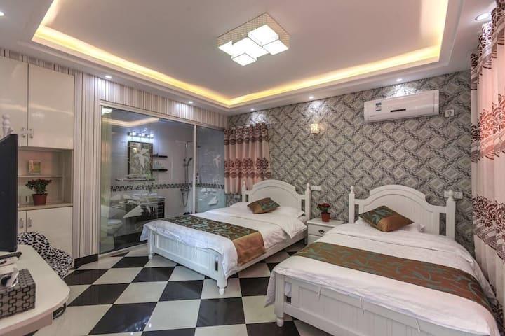 芦雪庭——西塘古镇景区内烟雨长廊近醉园独立小院标准间双床房