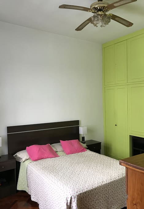 Complete bedroom with spacious wardrobe: Bed clothes included.