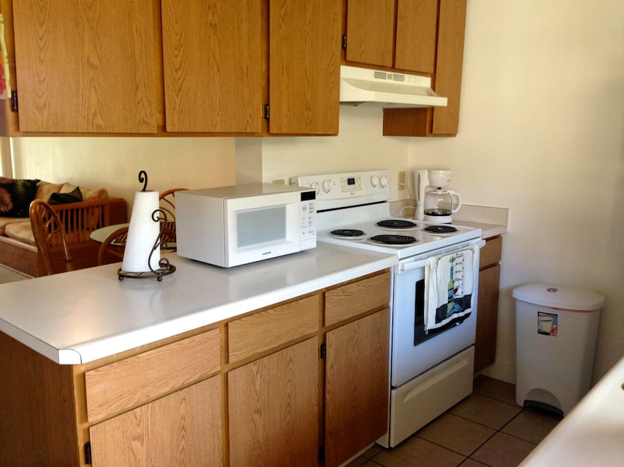 Shared kitchen with fully equipped kitchen so you can prepare your meals!