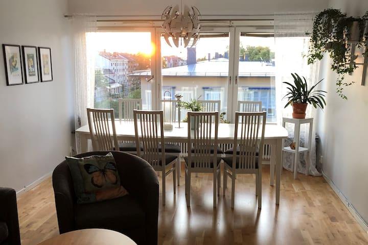 En lägenhet med 5rum i centrala Uppsala