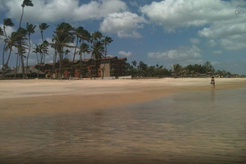 Picture of the hotel from the beach.