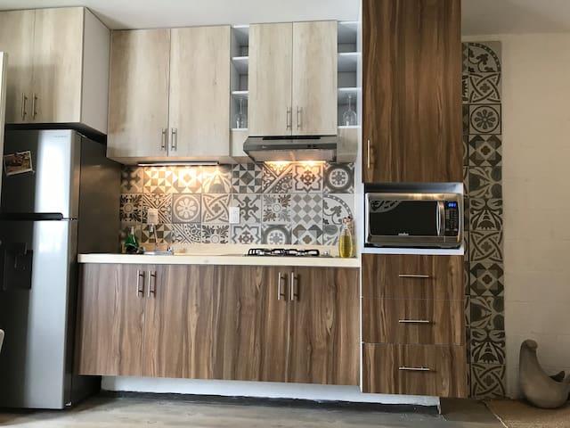 Casa Sol cuenta con una hermosa cocina integral perfectamente equipada con todo lo necesario para una estancia agradable.