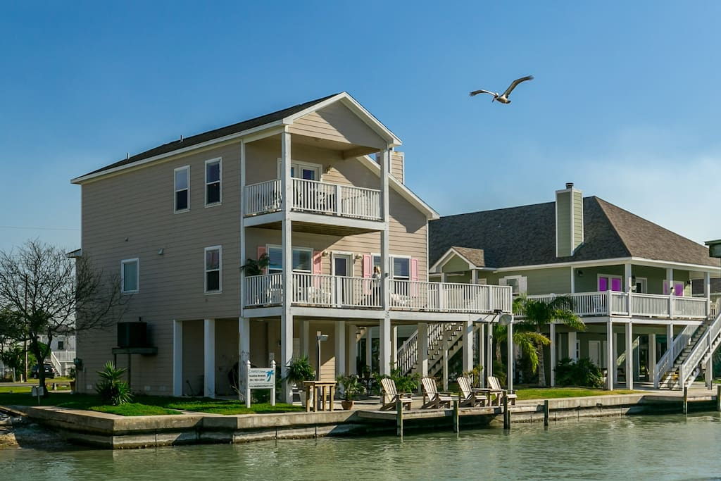 Right on the water with a lighted fishing dock in a prime fishing location.