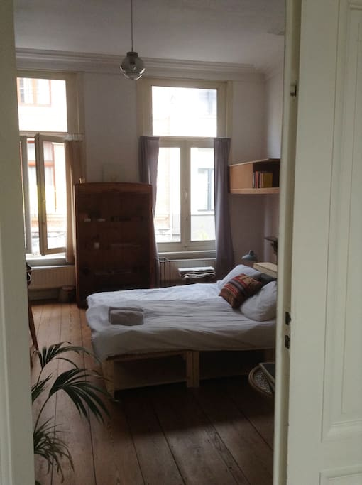 View on the updated and furnished bedroom