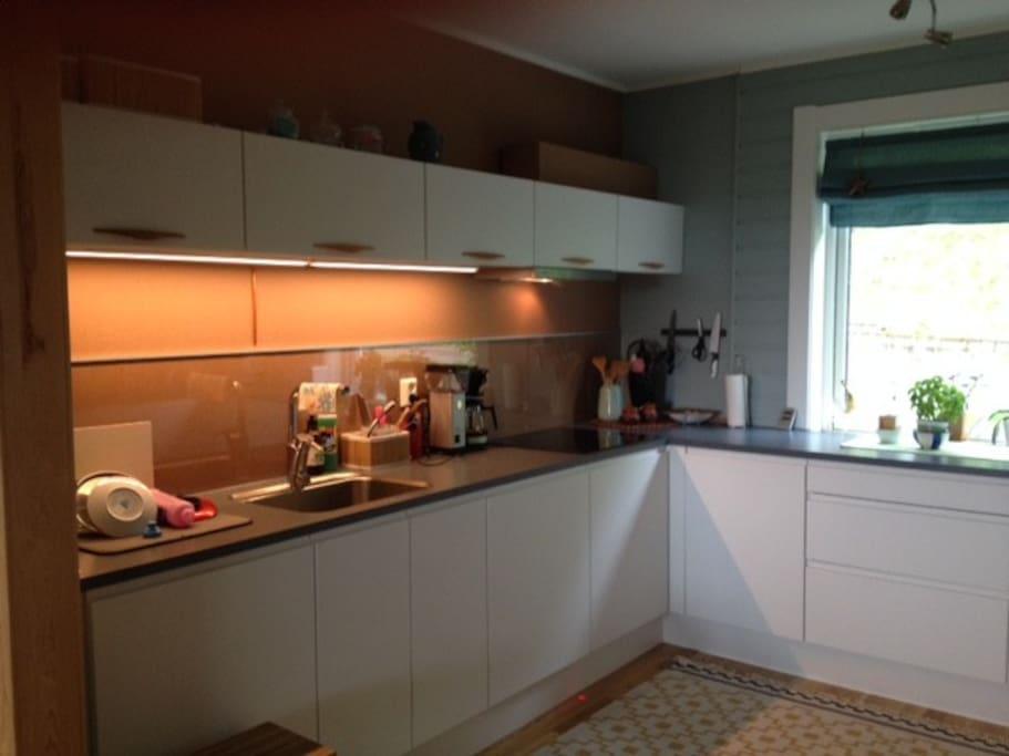 Kjøkken med alt av nødvendig utstyr.
