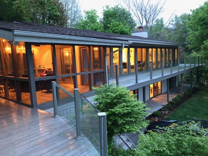 Modern Grand Beach Lake House