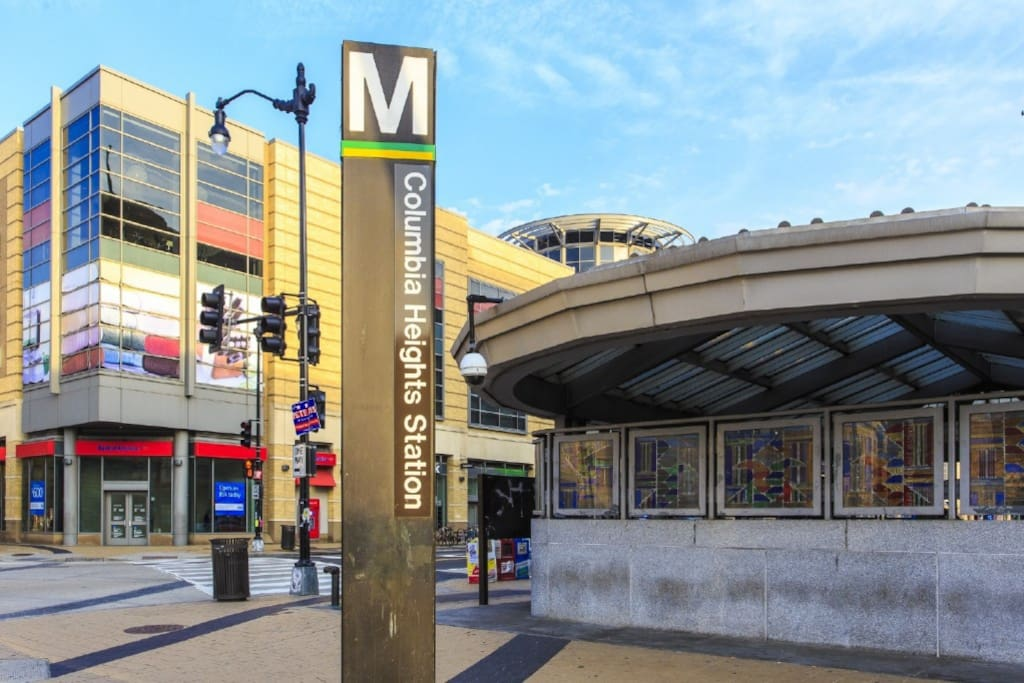 Columbia Heights Metro - 10 Minutes Walk