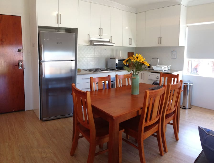 Newly furnished well equipped kitchen and dining
