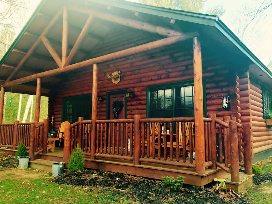 The log cabin at peaceridge cabins for rent in for Wilmington ny cabin rentals