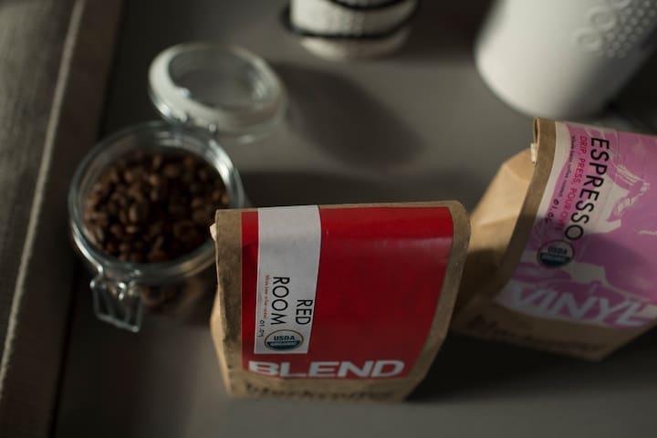 local coffee beans provided