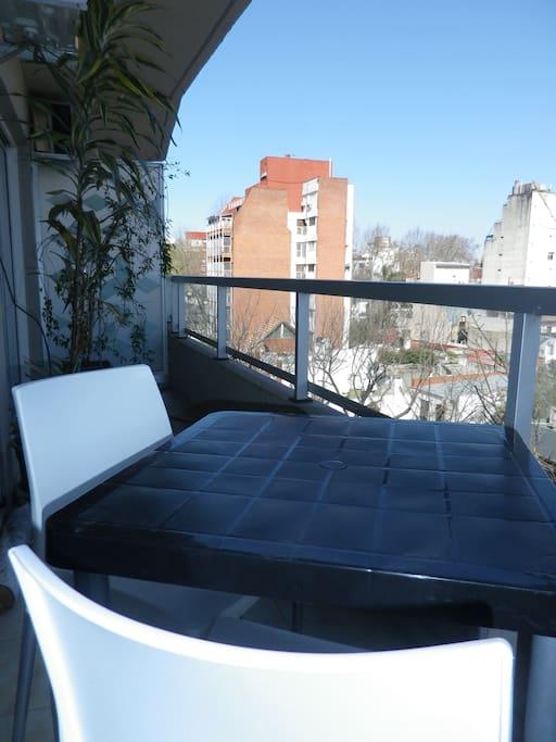 Balcony, south view