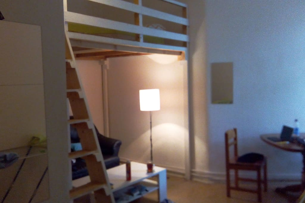 Your room with mezzanine bed