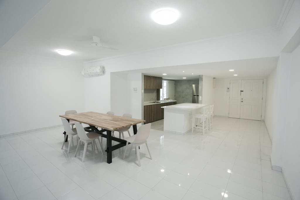 Shared Space - The Dining Area & Kitchen Area