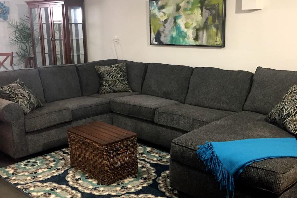 New comfy sofa sleeper sectional.