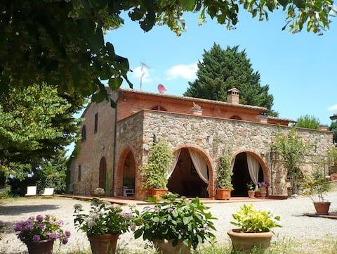 Panorama bondegårdsvilla i Toscana (9p)