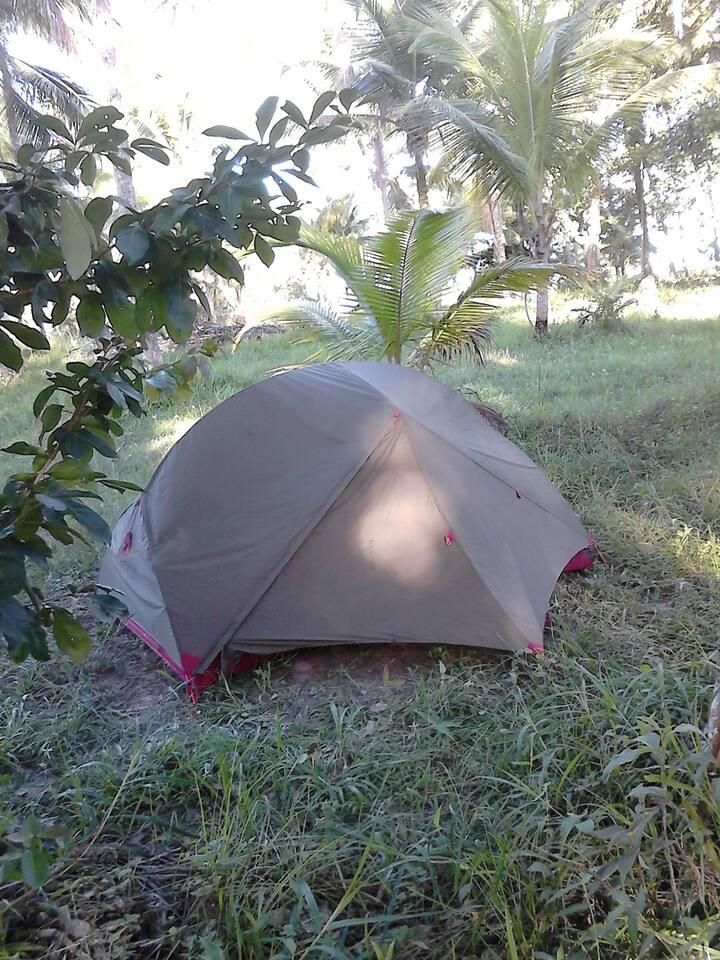 Quartos individuais e camping  em Serra Grande