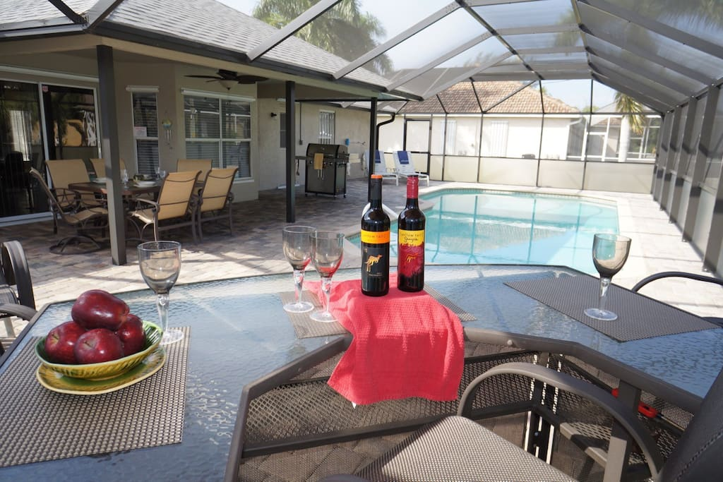 Electric heated pool with bar