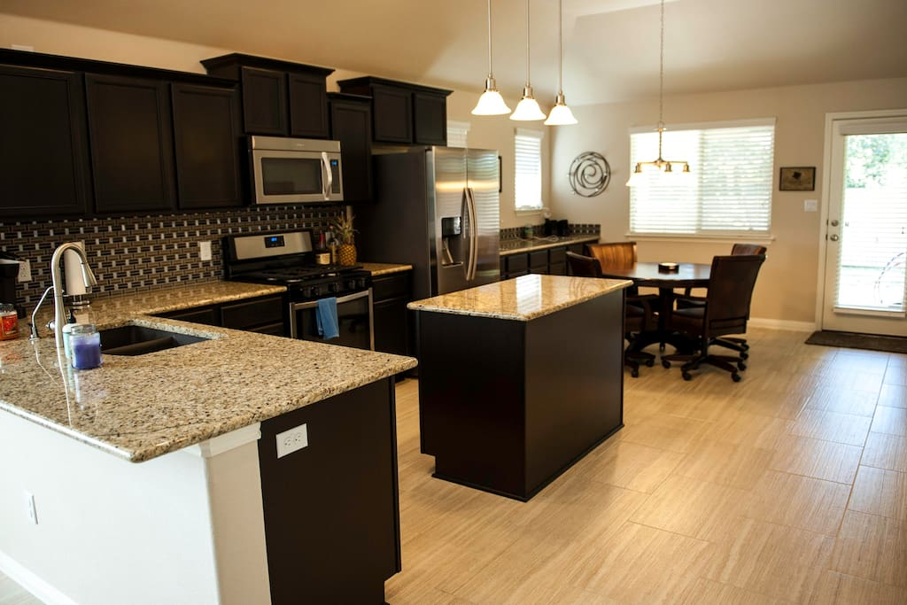 Kitchen with all gas appliances