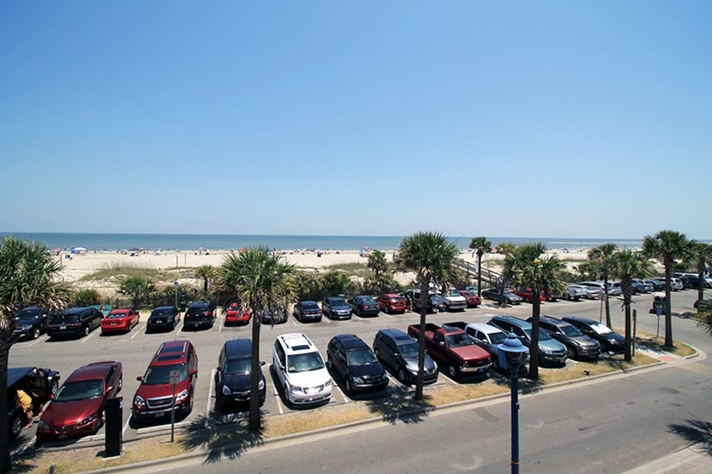 Enjoy Ocean Breezes, the Sound of the Surf and Panoramic Views of Tybee Beach, the Pier and Pavilion and the Atlantic Ocean from Your Balcony