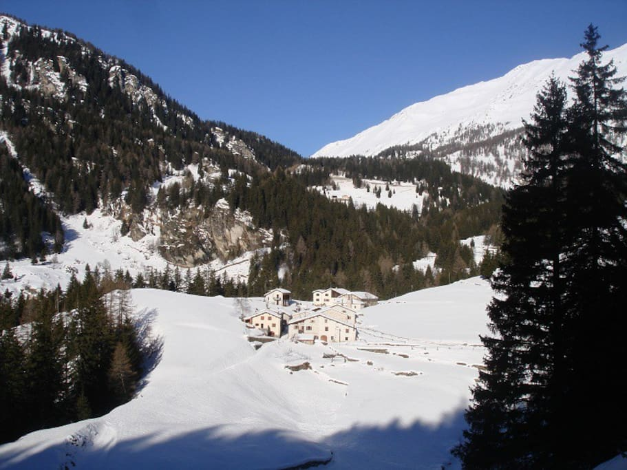 View of Pisciadel (Winter)