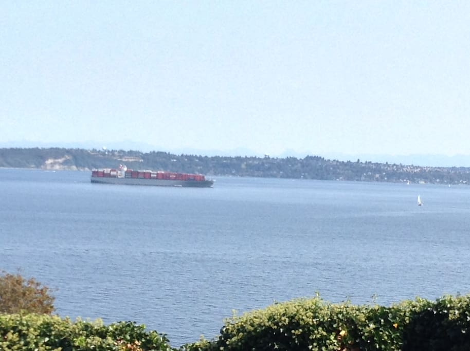 More views from front deck/lawn across Puget Sound and downtown Seattle
