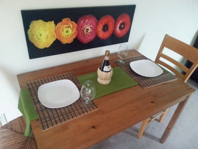Dinning table adjoining the kitchen.
