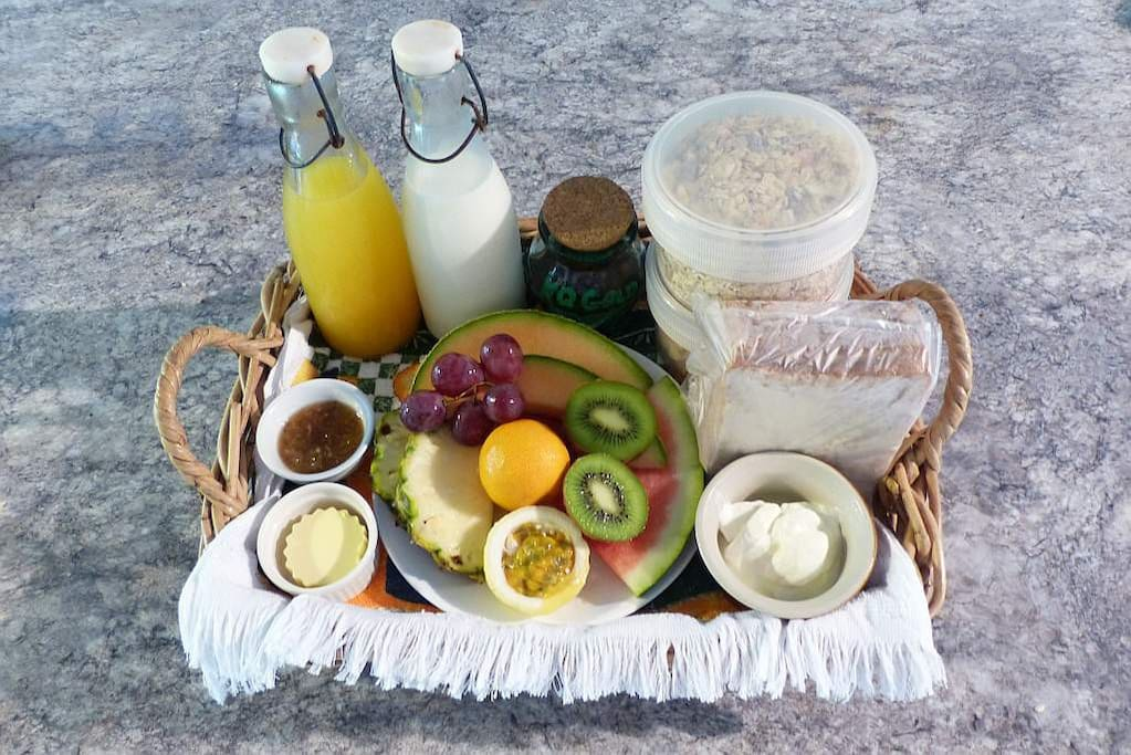 Complimentary breakfast basket delivered daily