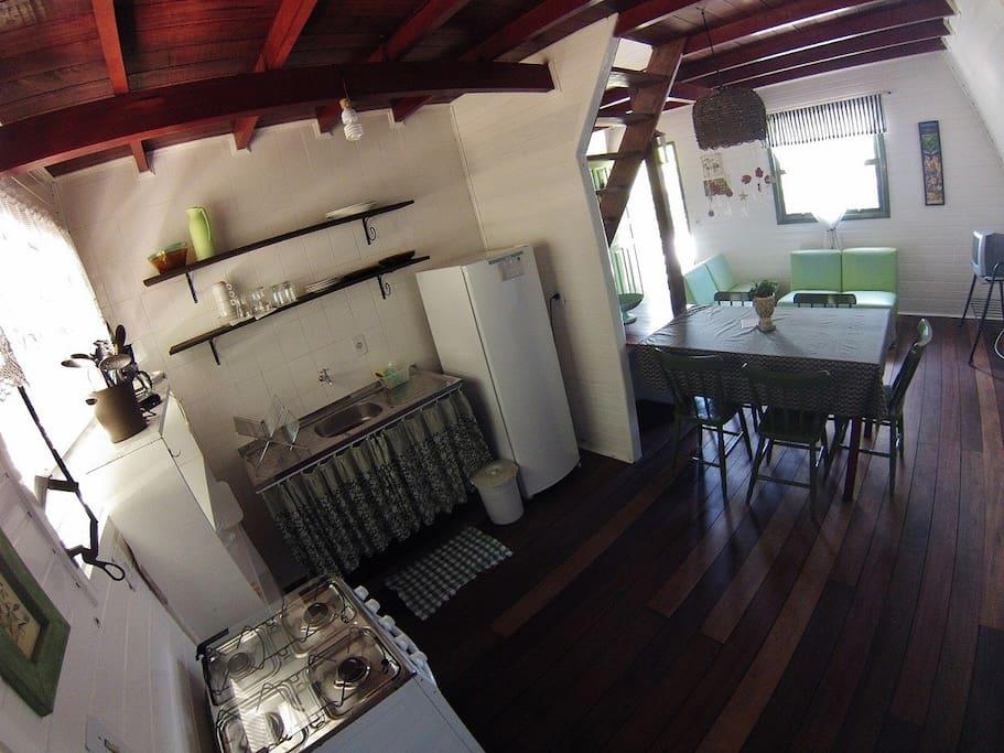 Cozinha - Vila Gaia Chalés